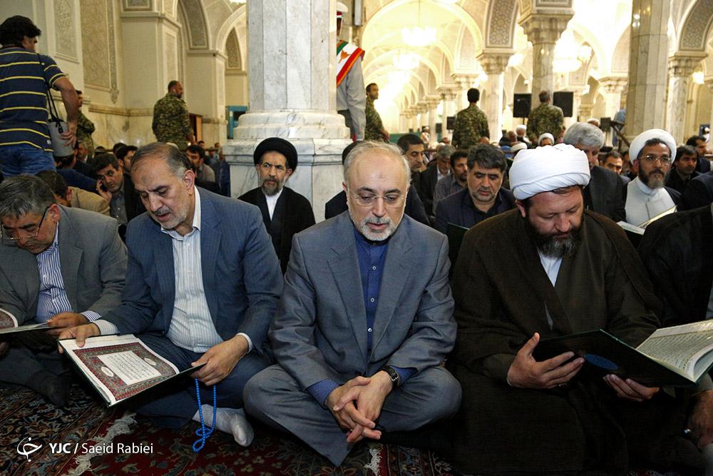 برگزاری مراسم بزرگداشت شهدای حادثه تروریستی تهران/چه کسانی در مراسم حضور یافتند+تصاویر