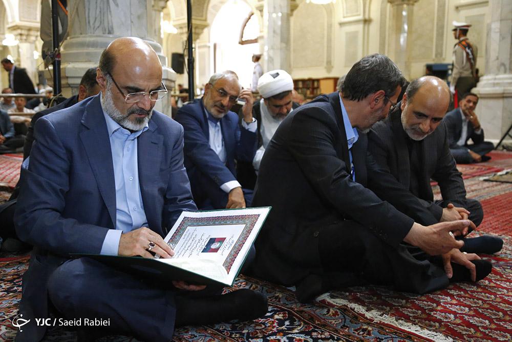 برگزاری مراسم بزرگداشت شهدای حادثه تروریستی تهران/چه کسانی در مراسم حضور یافتند؟