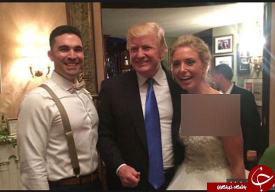 ترامپ، مهمان ناخوانده یک مراسم ازدواج شد+تصاویر