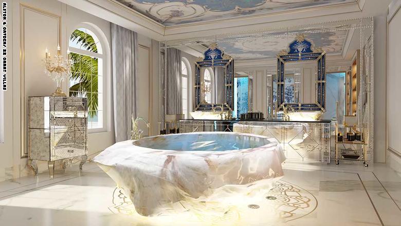 مجلل ترین مجموعه ویلایی در دبی که وان های یک میلیون دلاری دارد+ تصاویر