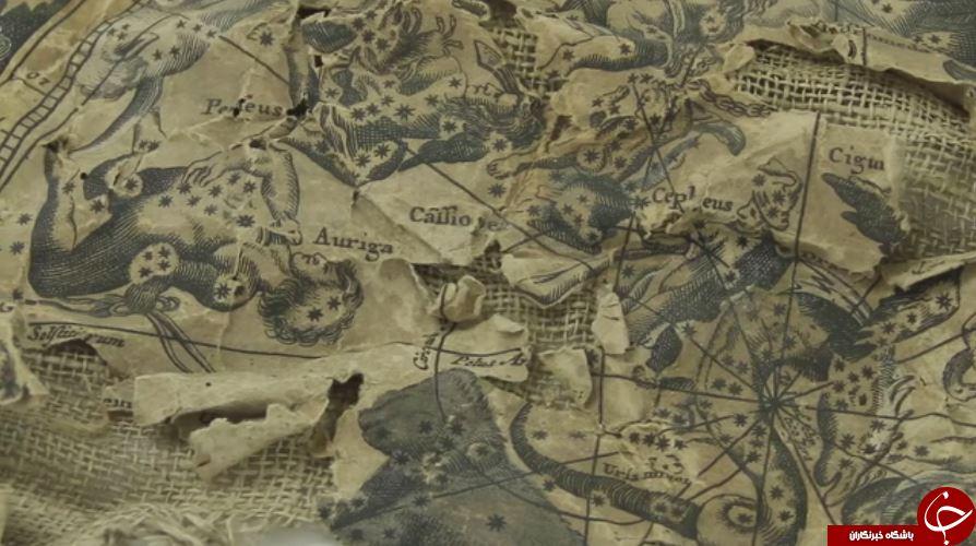 پارچه کهنهای که در دودکش پیدا شد نقشه نایاب قرن 17 بود!+ تصاویر