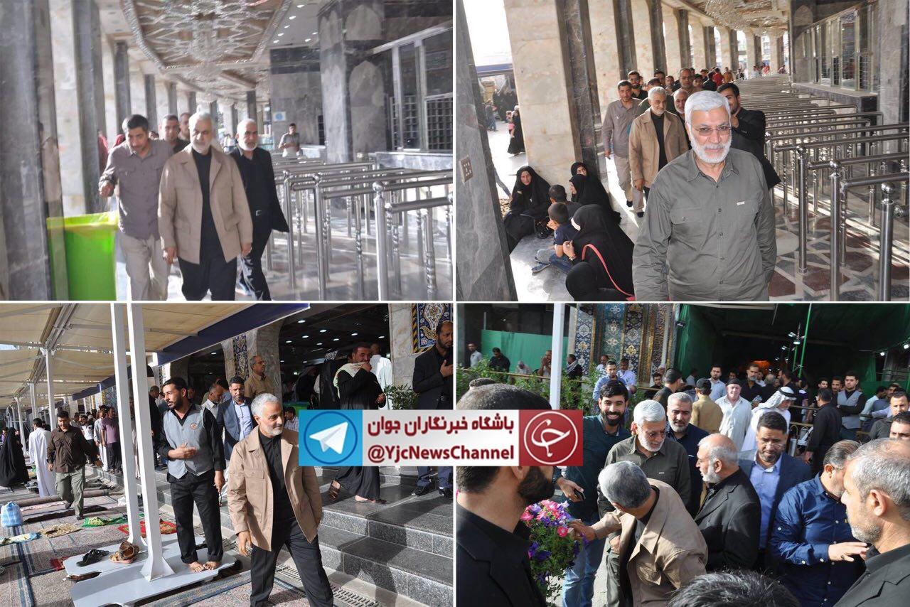 تصاویر جدید رسانههای عراقی از حضور سردار «قاسم سلیمانی» در کربلای معلی