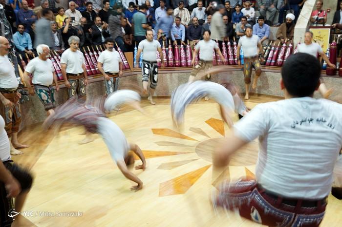 مراسم تقدیر از پیشکسوتان ورزش های زورخانه ای