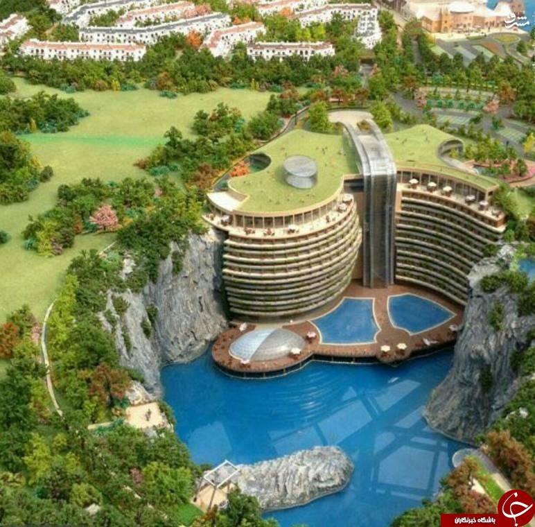 زیباترین هتل جهان در دل معدن+عکس