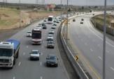ترافیک در آزادراه کرج – تهران نیمه سنگین است