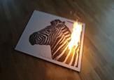 باشگاه خبرنگاران - خلق نقاشی زیبای آتشین با باروت + فیلم