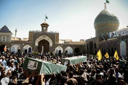 باشگاه خبرنگاران -تشییع پیکر سه شهید مدافع حرم در شهرری