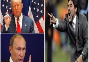 نظر جالب مارادونا درباره پوتین و ترامپ!