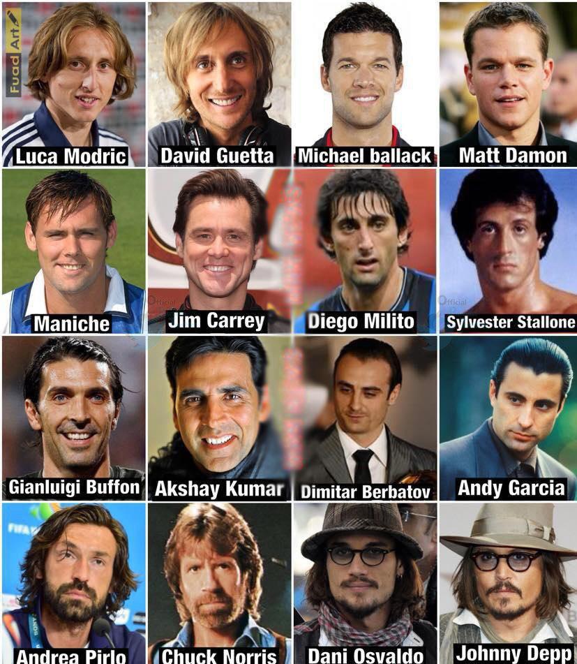 شباهت عجیب برخی از ورزشکاران و هنرمندان به یکدیگر+عکس