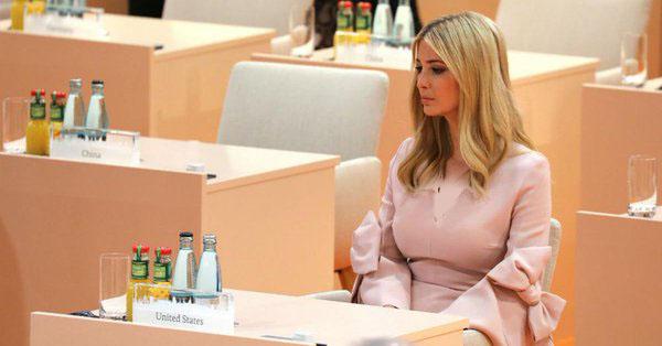 توجیه مضحک ترامپ برای نشستن ایوانکا به روی صندلی وی در اجلاس گروه بیست!