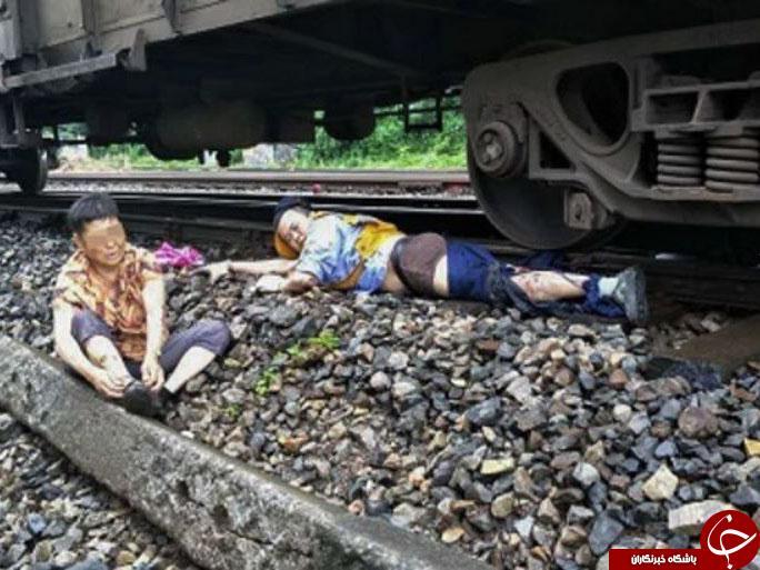 راننده فداکار قطار، پایش را فدای نجات جان  زن سالخورده کرد + تصاویر