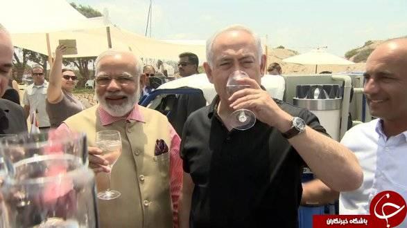 قرارداد با صهیونیست ها برای مهار ایران و چین/ استقبال یی نتانیاهو برای نخست هند +ع