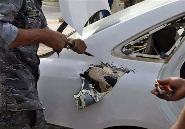 توقیف یک خودروی بمبگذاری شده در شمال کربلا