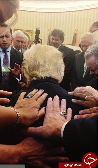 برگزاری مراسم دعا در کاخ سفید +عکس