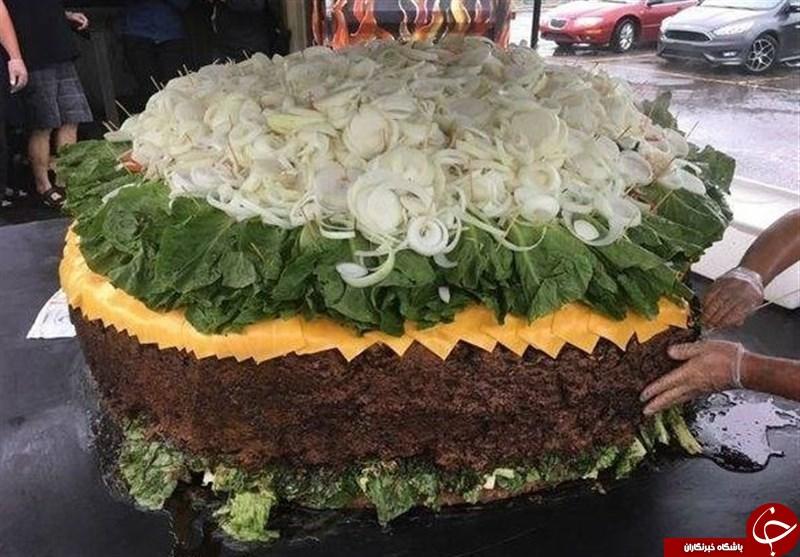 بزرگترین همبرگر جهان + عکس