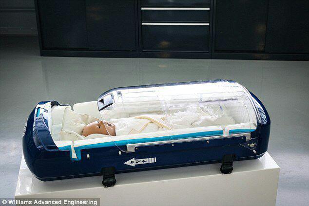 دستگاه فوق پیشرفته برای انتقال نوزادان بیمار با هلیکوپتر+تصاویرتجهیزات خودروهای فرمول یک برای انتقال نوزادان بیمار به بیمارستان+تصاویر
