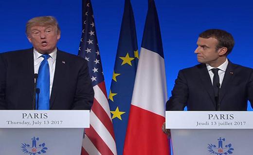 ترامپ: ایران تهدیدی علیه ماست/ مکرون: برکناری بشار اسد پیش شرط ما نیست