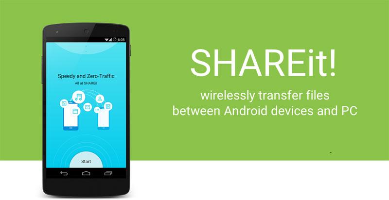 دانلود شیر ایت SHAREit 4.1.2 بهترین برنامه ارسال و دریافت فایل با وای فای