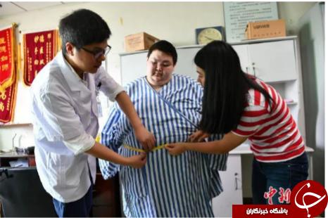 چاق ترین مرد کشور چین + تصاویر