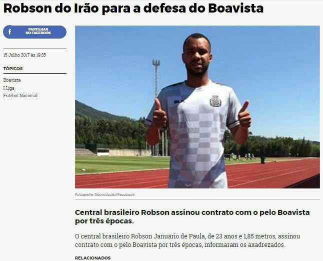 رابسون جانواریو به بوایشتا پرتغال پیوست