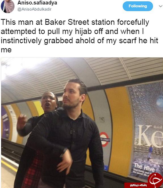 حمله نژادپرستانه به یک دختر مسلمان+تصاویر