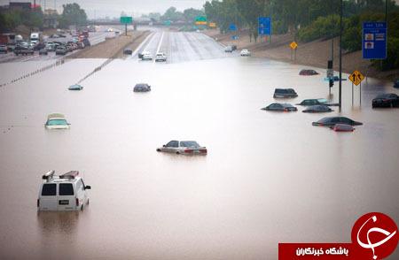 9 کشته به دنبال جاری شدن سیل در آریزونا+ تصاویر