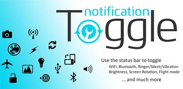 دانلود Notification Toggle / نرم افزاری برای قراردادن میانبر در نوار نوتیفیکشن