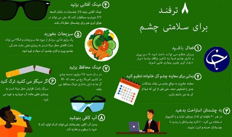 ترفند های حفظ سلامتی چشم / اینفو گرافیک