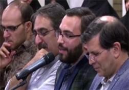 باشگاه خبرنگاران - شعرخوانی طنز در حضور رهبر معظم انقلاب اسلامی + فیلم