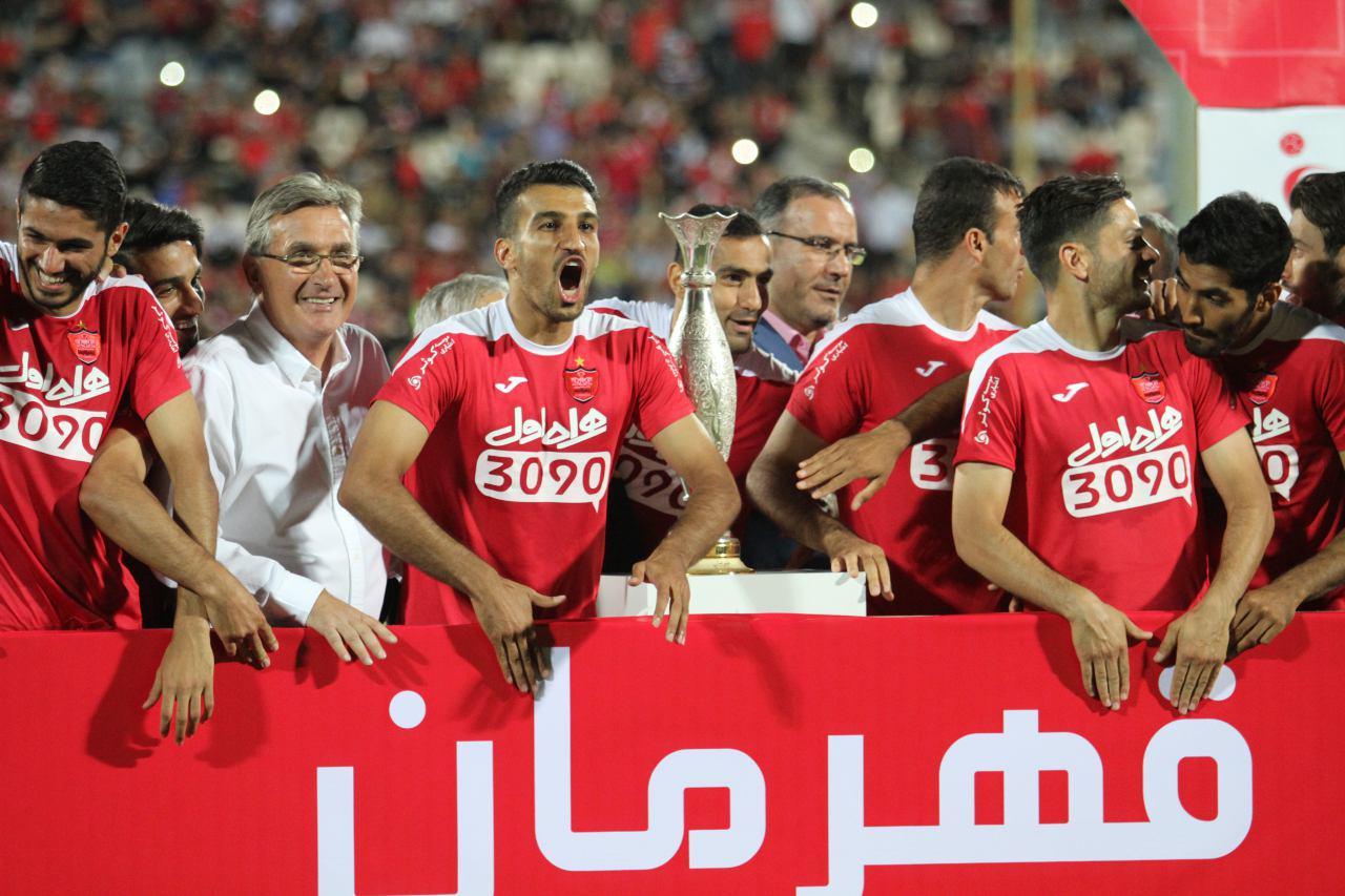 جشن قهرمانی پرسپولیس در سوپر جام + تصاویر