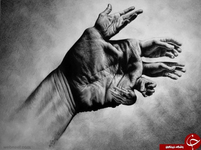 خلق نقاشی های سه بعدی شگفت انگیز با مداد