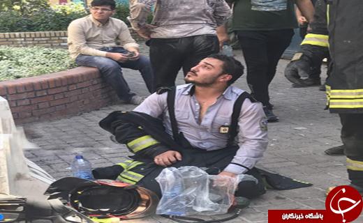 هتل ۲۰ طبقه خیابان امام رضا (ع) مشهد طعمه حریق شد/تلاش بری مهار آتش ادامه دارد+تصاویر