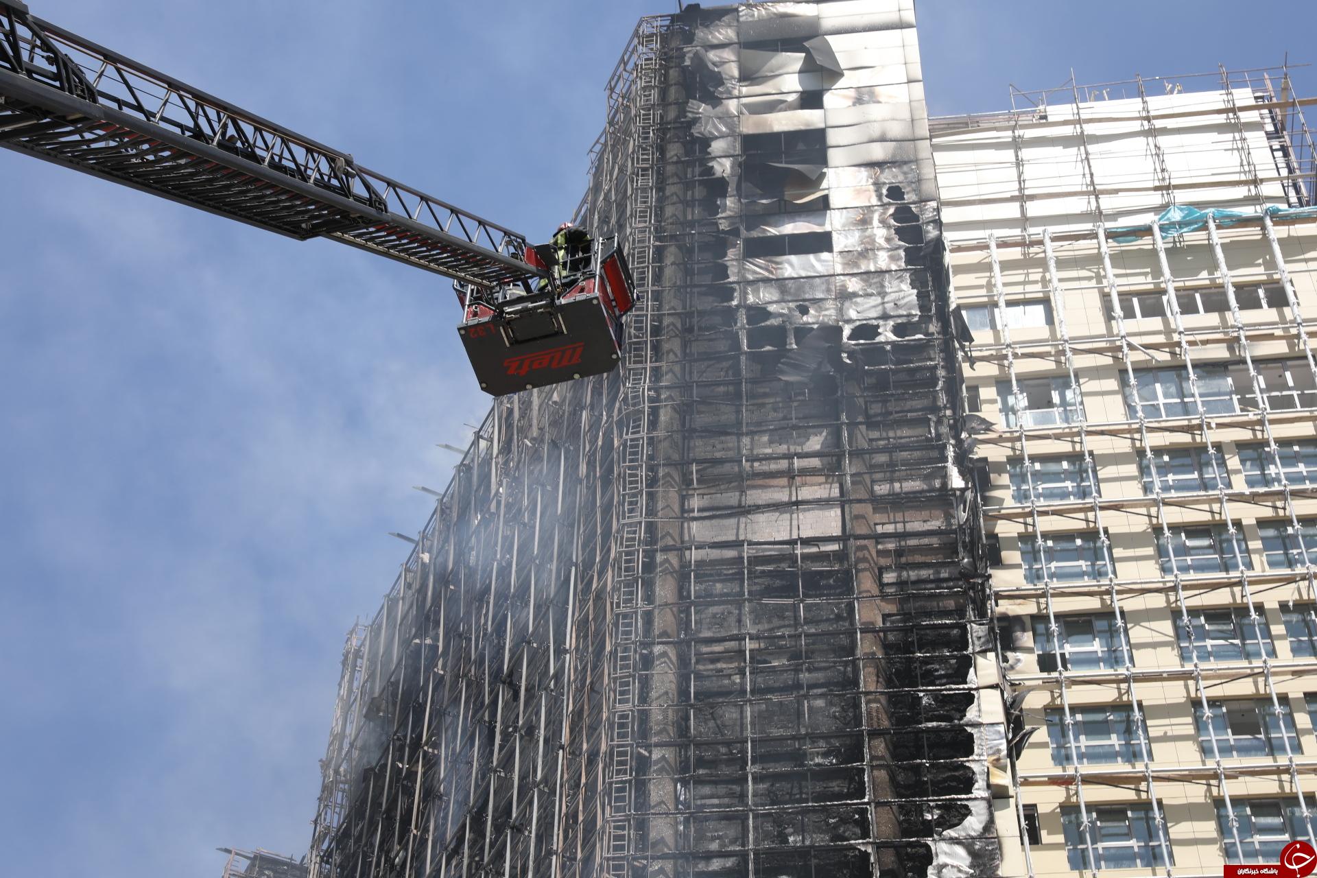 تصاویری از آتش سوزی هتل روتانا در مشهد
