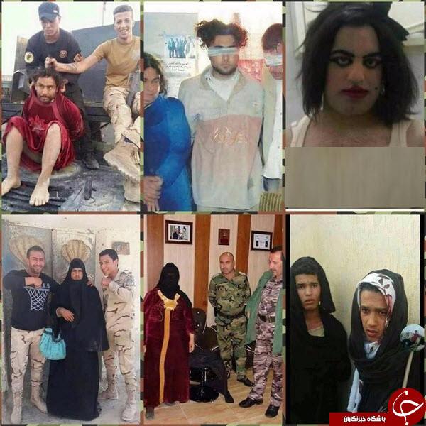 فرار داعشیها با لباس و آرایش زنانه از موصل + تصاویر
