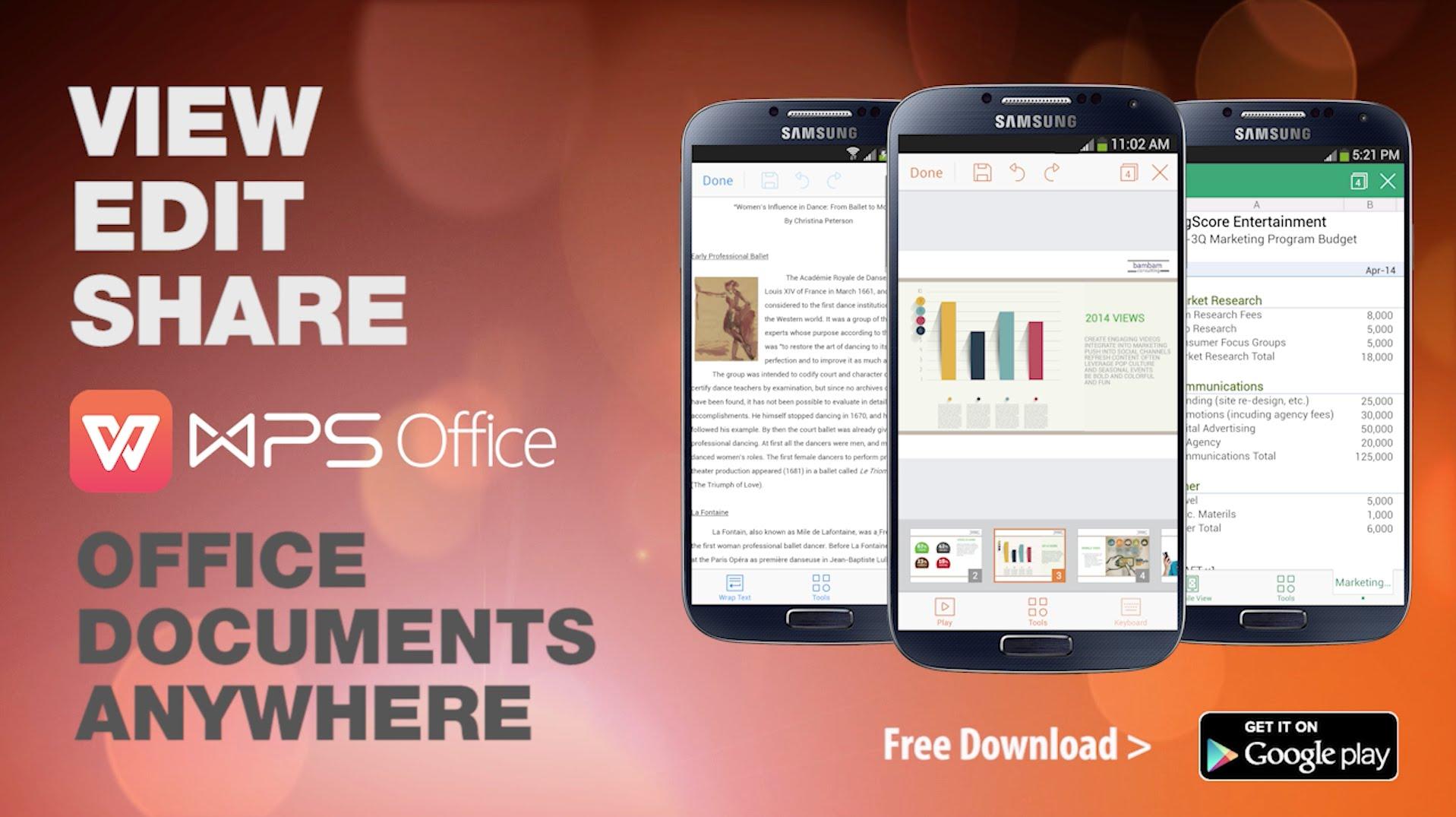 دانلود WPS Office + PDF ؛ قدرتمندترین آفیس و PDF برای اندروید و Ios