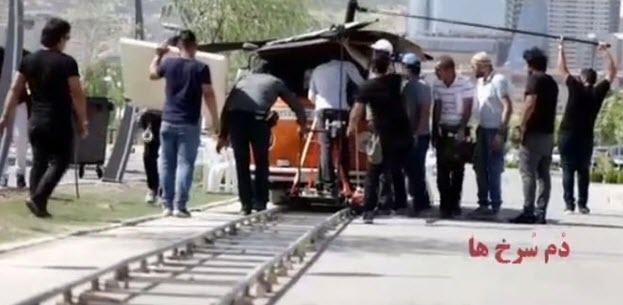 بازیگران طنز سینما در پشت صحنه فیلم دم سرخ ها+ عکس