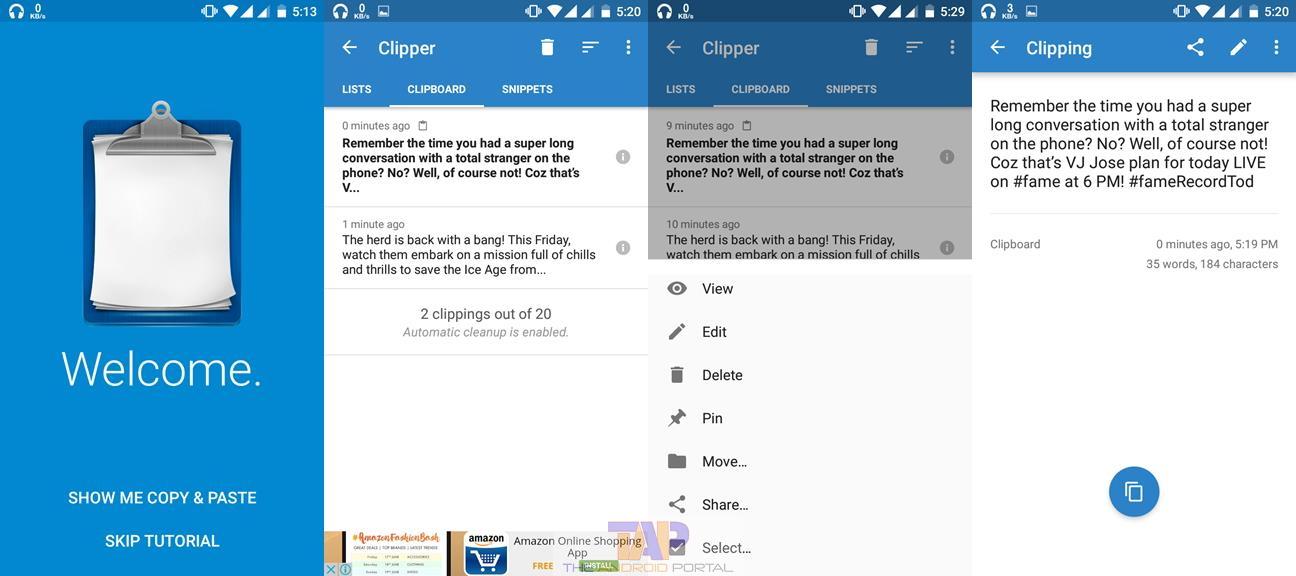 معرفی نرم افزار clipper plus ؛ اپلیکیشنی که حافظه موقت گوشی شما را افزایش میدهد.