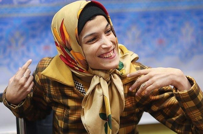 نقاشی دختر معلول ایرانی از رونالدو/کاربران ستاره رئال را تگ کردند +تصاویر