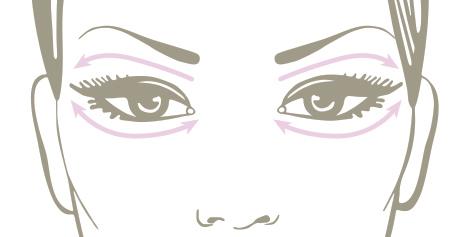 روش صحیح ماساژ دور چشم+ تصاویر