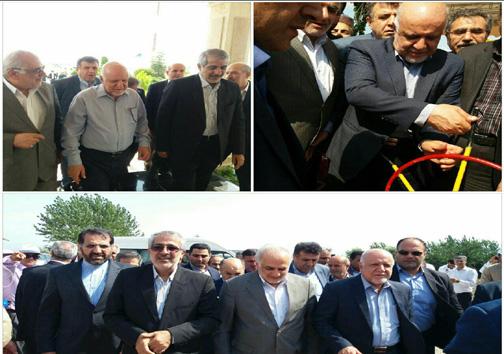 افتتاح خط انتقال گاز دامغان به ساری با حضور وزیر نفت+ تصاویر