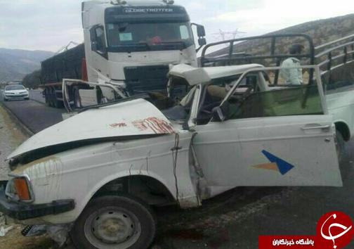 ۲ کشته در تصادف محور کازرون – شیراز + عکس