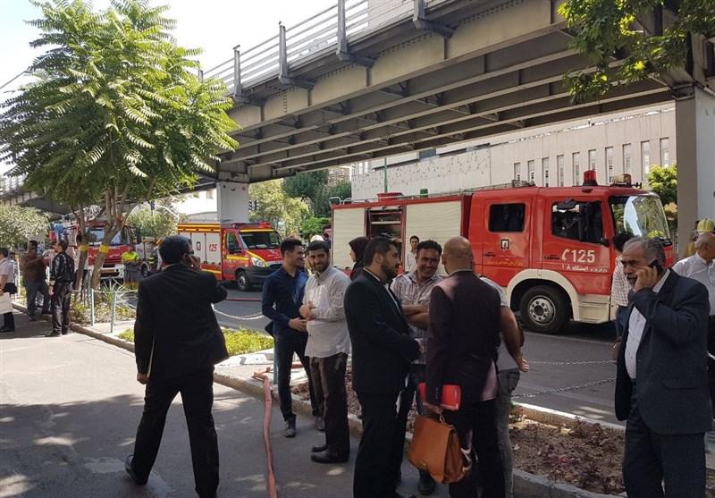 آتش در وزارت نفت/ساختمان مرکزی تخلیه شد