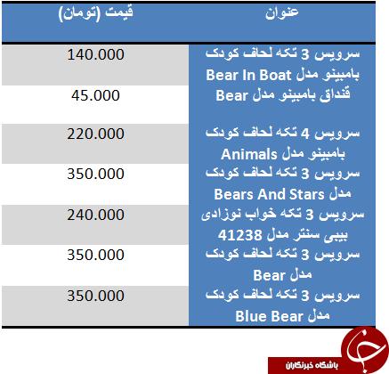 قیمت پرفروش ترین سرویس خواب های بچگانه
