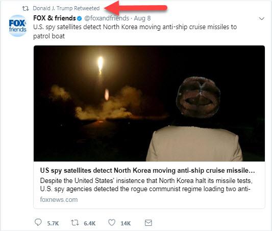 ترامپ اسرار نظامی را در توییتر فاش کرد+توییت