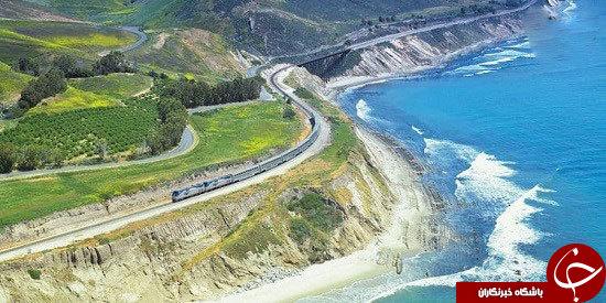 زیباترین مسیر قطار در امتداد ساحل اقیانوس آرام