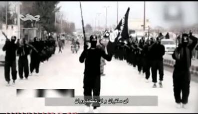 رجزخوانی برای تروریستهای تکفیری داعش + فیلم