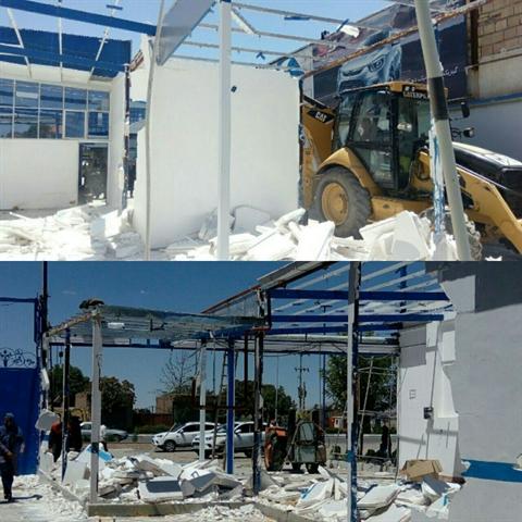 ساختوسازهای غیرمجاز در عرصه شهر کهن نیشابور تخریب شد