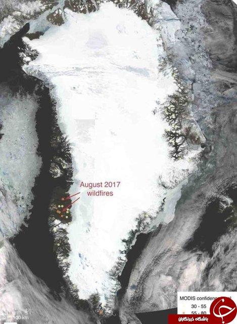 آتشسوزی نگران کننده در سرزمین یخها