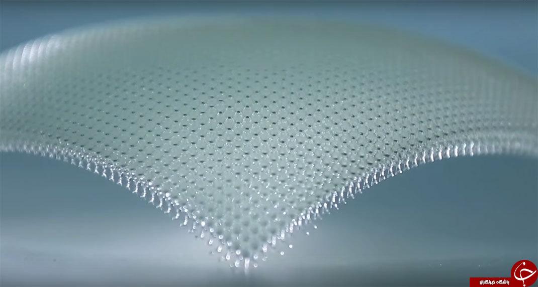 تصویری از فلز فوق سبک جهان که 99.9 درصد آن هوا است