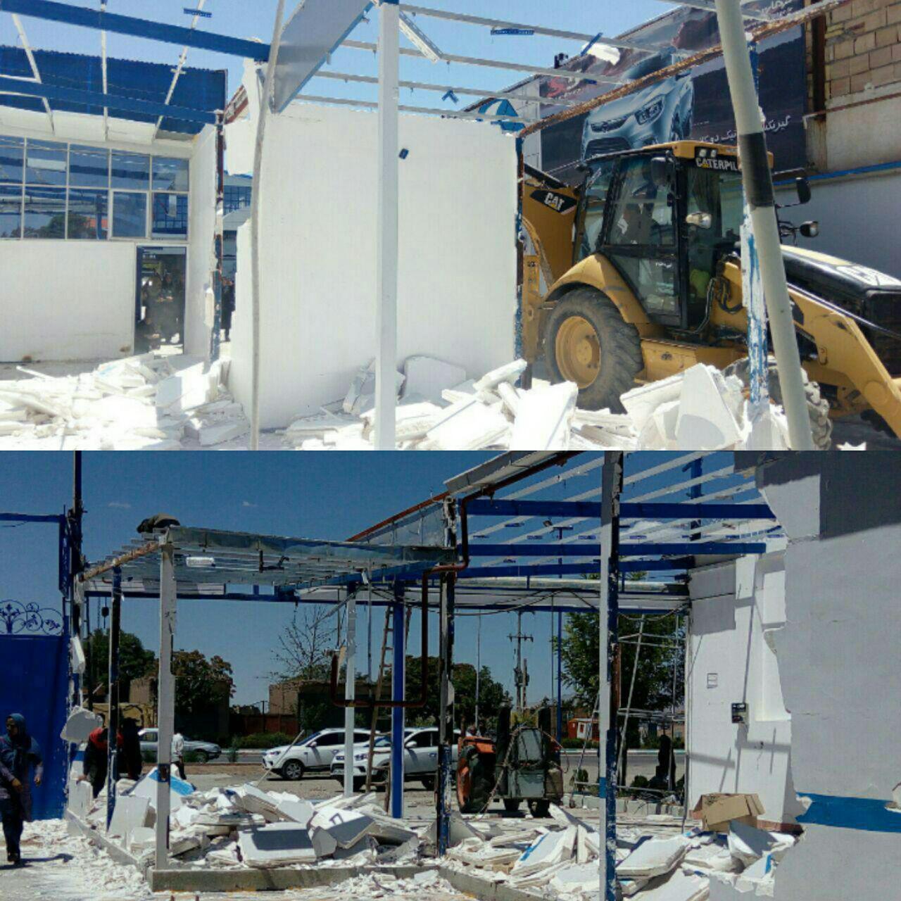 تخریب ساخت و سازهای غیر مجاز